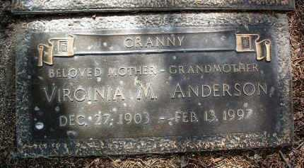 ANDERSON, VIRGINIA MAY - Yavapai County, Arizona | VIRGINIA MAY ANDERSON - Arizona Gravestone Photos