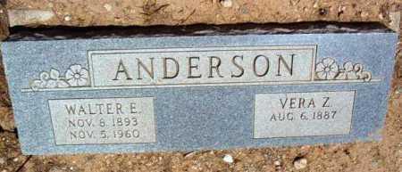 ANDERSON, WALTER E. - Yavapai County, Arizona | WALTER E. ANDERSON - Arizona Gravestone Photos