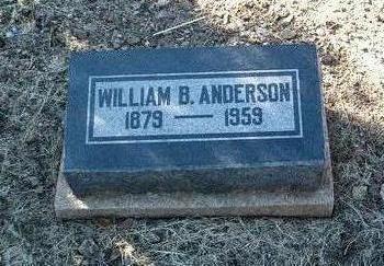 ANDERSON, WILLIAM B. - Yavapai County, Arizona | WILLIAM B. ANDERSON - Arizona Gravestone Photos