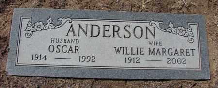 ANDERSON, WILLIE MARGARET - Yavapai County, Arizona | WILLIE MARGARET ANDERSON - Arizona Gravestone Photos