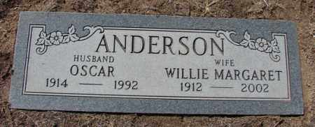 ANDERSON, WILLIE MARGARET - Yavapai County, Arizona | WILLIE MARGARET ANDERSON - Arizona Gravestone Photos