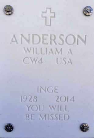 ANDERSON, WILLIAM ARTHUR - Yavapai County, Arizona   WILLIAM ARTHUR ANDERSON - Arizona Gravestone Photos