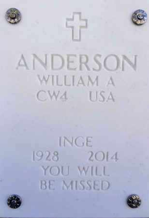 ANDERSON, WILLIAM ARTHUR - Yavapai County, Arizona | WILLIAM ARTHUR ANDERSON - Arizona Gravestone Photos