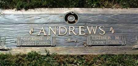 ANDREWS, ESTHER MAY - Yavapai County, Arizona   ESTHER MAY ANDREWS - Arizona Gravestone Photos