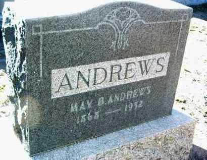 SHULL ANDREWS, MAY B. - Yavapai County, Arizona | MAY B. SHULL ANDREWS - Arizona Gravestone Photos