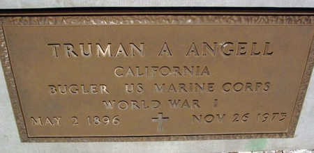 ANGELL, TRUMAN ALMA - Yavapai County, Arizona | TRUMAN ALMA ANGELL - Arizona Gravestone Photos