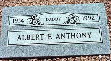 ANTHONY, ALBERT E. - Yavapai County, Arizona | ALBERT E. ANTHONY - Arizona Gravestone Photos