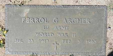 ARCHER, FERROL G. - Yavapai County, Arizona   FERROL G. ARCHER - Arizona Gravestone Photos