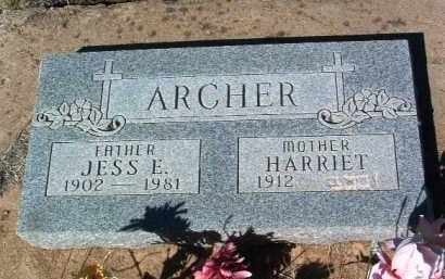 ARCHER, HARRIET - Yavapai County, Arizona | HARRIET ARCHER - Arizona Gravestone Photos