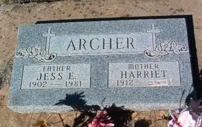 ARCHER, JESS ELMER - Yavapai County, Arizona   JESS ELMER ARCHER - Arizona Gravestone Photos