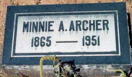 ARCHER, MINNIE A. - Yavapai County, Arizona | MINNIE A. ARCHER - Arizona Gravestone Photos