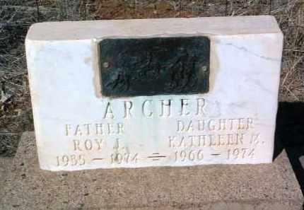 ARCHER, ROY JESS - Yavapai County, Arizona | ROY JESS ARCHER - Arizona Gravestone Photos