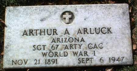 ARLUCK, ARTHUR A. - Yavapai County, Arizona | ARTHUR A. ARLUCK - Arizona Gravestone Photos