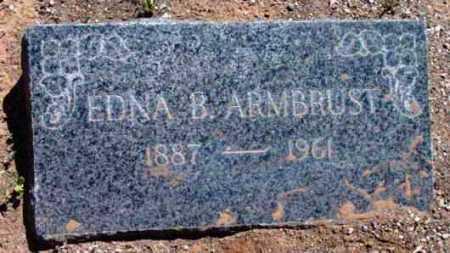PRICE ARMBRUST, EDNA - Yavapai County, Arizona   EDNA PRICE ARMBRUST - Arizona Gravestone Photos