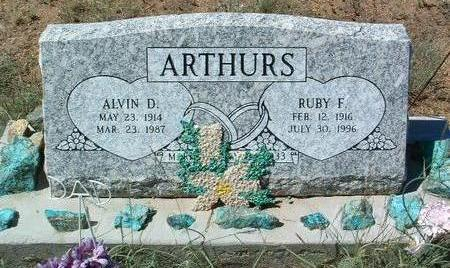 ARTHURS, ALVIN D. - Yavapai County, Arizona | ALVIN D. ARTHURS - Arizona Gravestone Photos