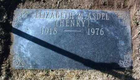 HENRY ASDEL, ELIZABETH - Yavapai County, Arizona | ELIZABETH HENRY ASDEL - Arizona Gravestone Photos