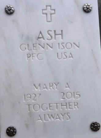 ASH, GLENN ISON - Yavapai County, Arizona   GLENN ISON ASH - Arizona Gravestone Photos