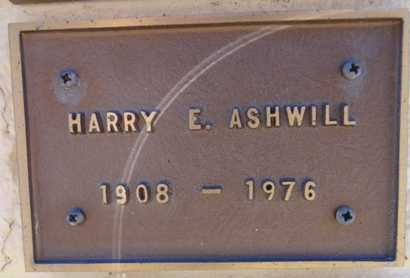 ASHWILL, HARRY E. - Yavapai County, Arizona | HARRY E. ASHWILL - Arizona Gravestone Photos