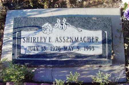ASSENMACHER, SHIRLEY E. - Yavapai County, Arizona | SHIRLEY E. ASSENMACHER - Arizona Gravestone Photos