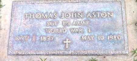 ASTON, THOMAS JOHN - Yavapai County, Arizona | THOMAS JOHN ASTON - Arizona Gravestone Photos