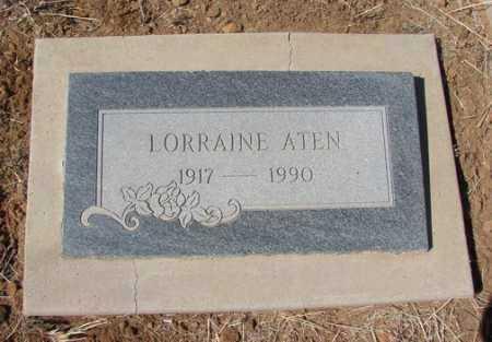 ATEN, LORRAINE - Yavapai County, Arizona | LORRAINE ATEN - Arizona Gravestone Photos