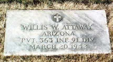 ATTAWAY, WILLIS W. - Yavapai County, Arizona | WILLIS W. ATTAWAY - Arizona Gravestone Photos