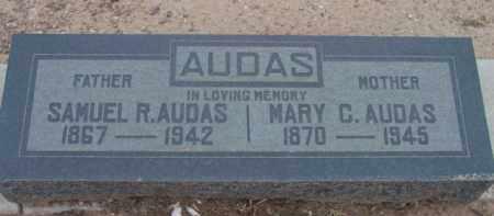 AUDAS, MARY CLARA - Yavapai County, Arizona | MARY CLARA AUDAS - Arizona Gravestone Photos