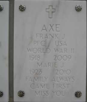 AXE, FRANK JAMES - Yavapai County, Arizona   FRANK JAMES AXE - Arizona Gravestone Photos