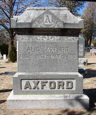 AXFORD, ALICE - Yavapai County, Arizona | ALICE AXFORD - Arizona Gravestone Photos