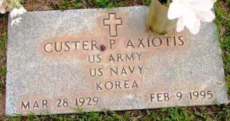 AXIOTIS, CUSTER PETER - Yavapai County, Arizona | CUSTER PETER AXIOTIS - Arizona Gravestone Photos