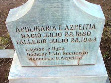 ESPINO AZPEITIA, APOLINERIA - Yavapai County, Arizona | APOLINERIA ESPINO AZPEITIA - Arizona Gravestone Photos