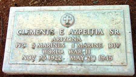 AZPEITIA, CLEMENTE E., SR. - Yavapai County, Arizona | CLEMENTE E., SR. AZPEITIA - Arizona Gravestone Photos