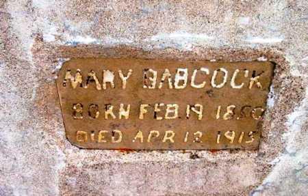 BABCOCK, MARY - Yavapai County, Arizona | MARY BABCOCK - Arizona Gravestone Photos
