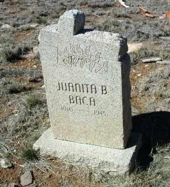 BACA, JUANITA B. - Yavapai County, Arizona | JUANITA B. BACA - Arizona Gravestone Photos