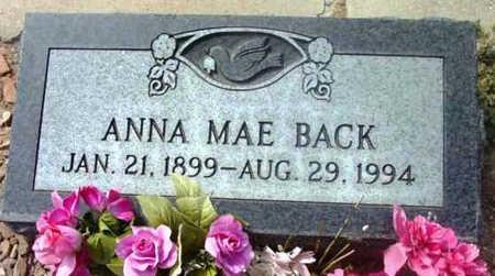 BACK, ANNA MAE - Yavapai County, Arizona | ANNA MAE BACK - Arizona Gravestone Photos