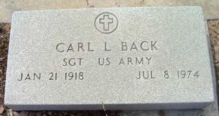 BACK, CARL LEE - Yavapai County, Arizona | CARL LEE BACK - Arizona Gravestone Photos