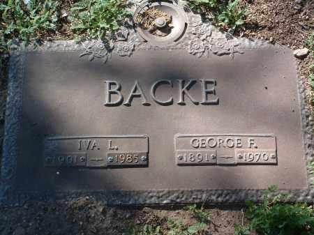 BACKE, IVA LAURIE - Yavapai County, Arizona | IVA LAURIE BACKE - Arizona Gravestone Photos
