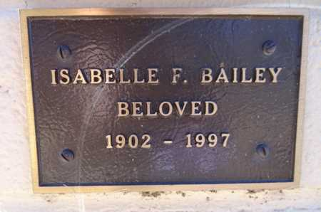 BAILEY, ISABELLE FLORENCE - Yavapai County, Arizona | ISABELLE FLORENCE BAILEY - Arizona Gravestone Photos