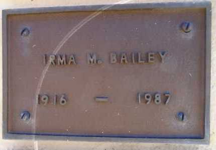 BAILEY, IRMA MARY - Yavapai County, Arizona | IRMA MARY BAILEY - Arizona Gravestone Photos