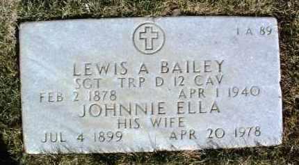 BAILEY, JOHNNIE ELLA - Yavapai County, Arizona   JOHNNIE ELLA BAILEY - Arizona Gravestone Photos