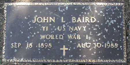 BAIRD, JOHN L. - Yavapai County, Arizona | JOHN L. BAIRD - Arizona Gravestone Photos