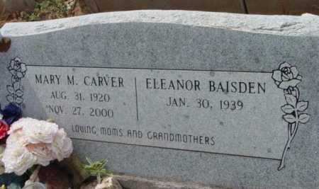 CARVER BAISDEN, ELEANOR - Yavapai County, Arizona   ELEANOR CARVER BAISDEN - Arizona Gravestone Photos