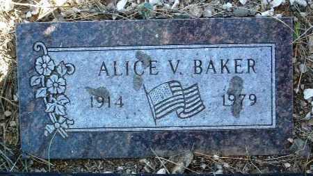 BAKER, ALICE V. - Yavapai County, Arizona   ALICE V. BAKER - Arizona Gravestone Photos