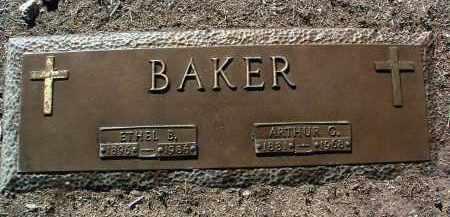 BAKER, ARTHUR GEORGE - Yavapai County, Arizona   ARTHUR GEORGE BAKER - Arizona Gravestone Photos