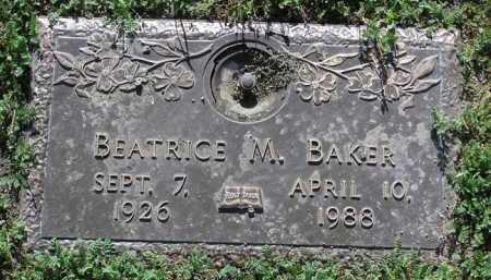 BAKER, BEATRICE M. - Yavapai County, Arizona | BEATRICE M. BAKER - Arizona Gravestone Photos