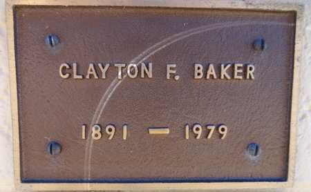 BAKER, CLAYTON F. - Yavapai County, Arizona   CLAYTON F. BAKER - Arizona Gravestone Photos