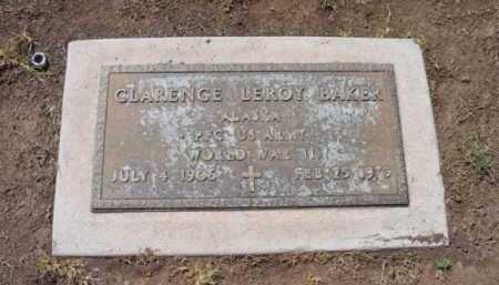 BAKER, CLARENCE LEROY - Yavapai County, Arizona   CLARENCE LEROY BAKER - Arizona Gravestone Photos