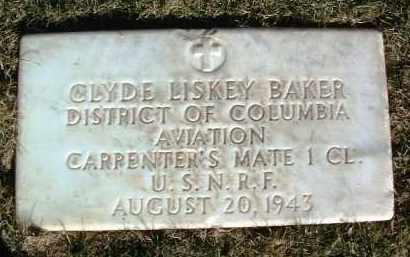 BAKER, CLYDE LISKEY - Yavapai County, Arizona   CLYDE LISKEY BAKER - Arizona Gravestone Photos