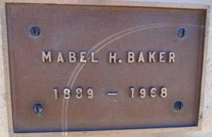 BAKER, MABEL H. - Yavapai County, Arizona | MABEL H. BAKER - Arizona Gravestone Photos