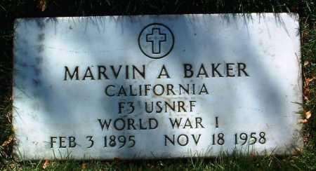 BAKER, MARVIN A. - Yavapai County, Arizona   MARVIN A. BAKER - Arizona Gravestone Photos